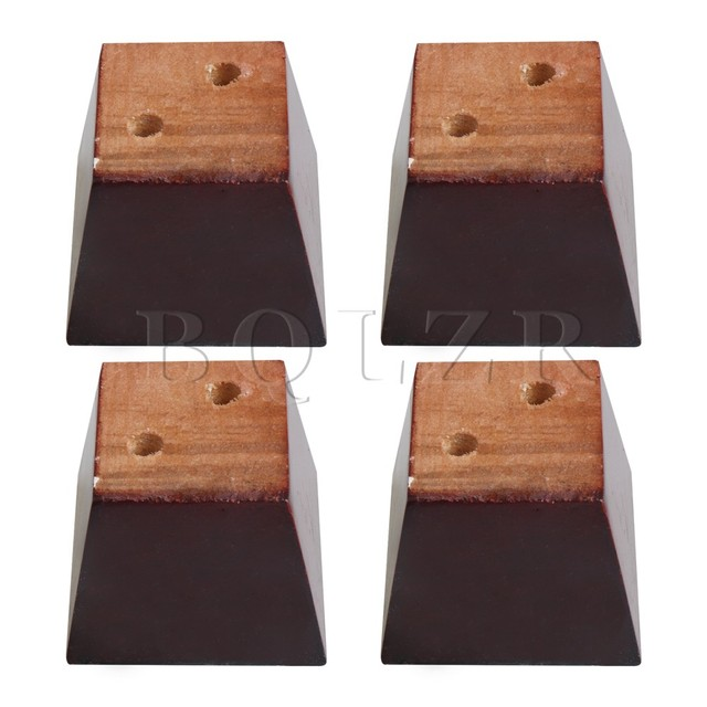Bqlzr 4pieces Red Brown Wood Tzoidal Sofa Feet Furniture Leg Part 7 5x7 5x6cm