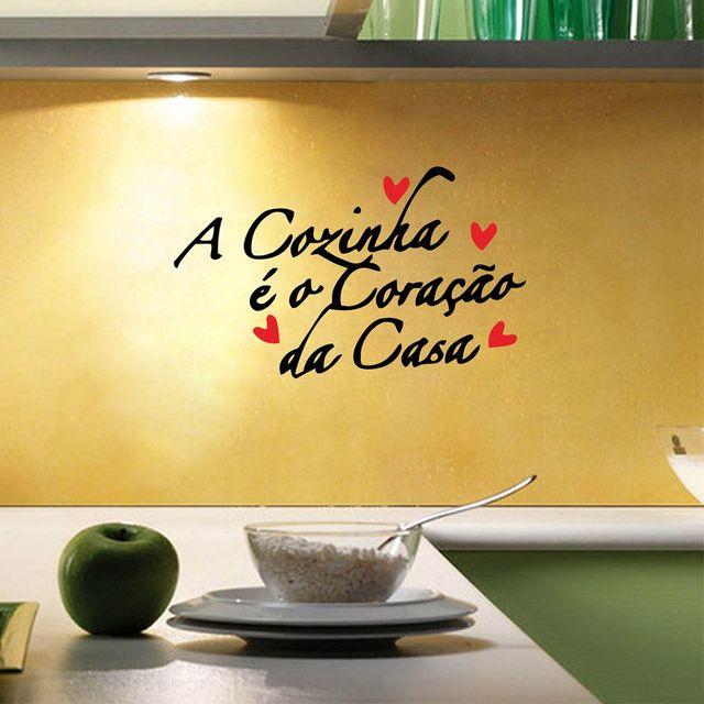 Portuguese Version Kitchen Vinyl Wall Sticker European Style Wall Art Decals  For Home Kitchen Decoration