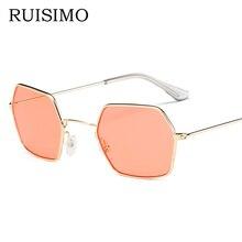 Newest cheap sunglasses Unisex Square Vintage Sun Glasses Fa