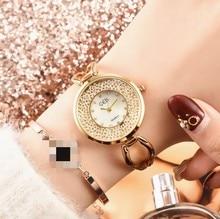 Fashion Quartz Watch Rose Gold Golden Women's Watch Rolling Diamond Watch Wrist Watches for Women Stainless Steel