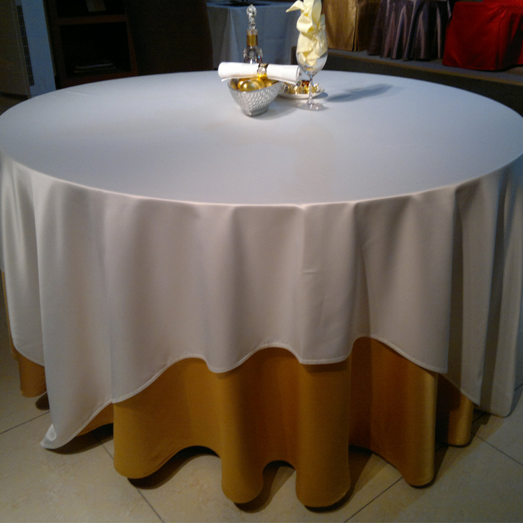 Pure cotton plain coloured antiskid dining table cloth, tablecloth ordering wholesale, hotel supplies