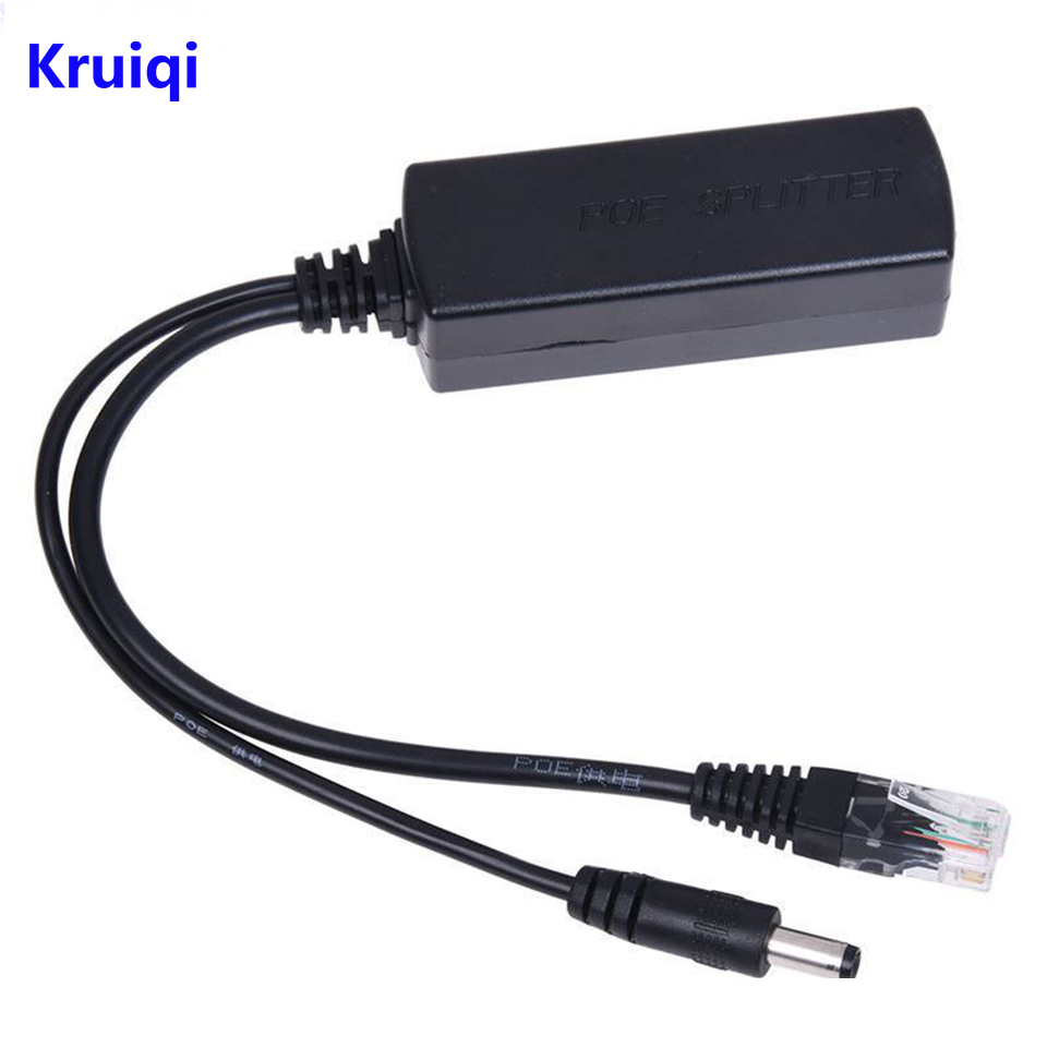 цена на Kruiqi POE Splitter 10/100Mbps POE Switch IEEE802.3af/at Standard 48V Input 12V Output For CCTV IP Camera AHD DVR NVR