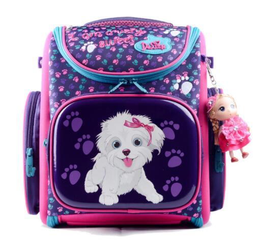 Delune Новая европейская детская школьная сумка для мальчиков и девочек рюкзак Мультфильм Mochila Infantil большой Ёмкость ортопедические школьный