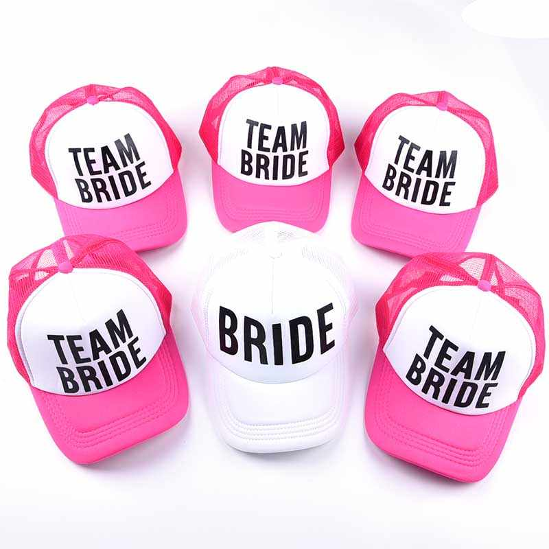 dc79cf79f 2018 Snapback Hats for Women Bride Trucker Hat Neon Bride Mesh Trucker Hat  Cap Bachelorette Party Wedding Snapback Summer