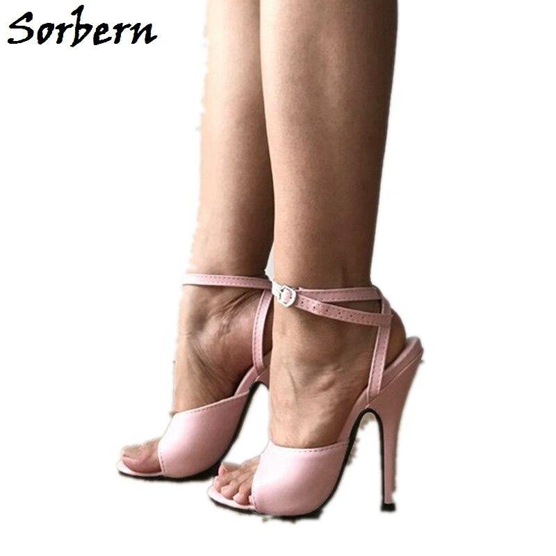 Custom Sandales Personnalisée Parti Haute Chaussures Cheville Talons Sorbern Bride Taille Color Aiguilles Disponible Femmes rose Couleur À La Européenne Nn0wvm8