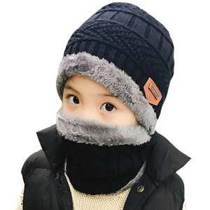 77c8dc71e39 jiangxihuitian 2pcs Winter Beanies Knitted girls Caps Hat