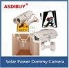 Fake Dummy Camera Solar Power Outdoor Waterproof Security Bullet CCTV Camera Surveillance De Seguridad Red Blinking