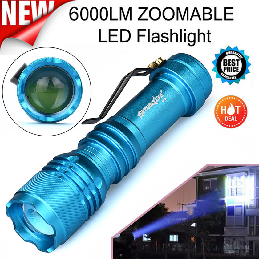 Skywolfeye Super 6000LM CREE Q5 AA/14500 3 Modes ZOOMABLE LE