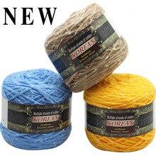 200g Multi-strand cotton scarf line Pearl pony sea Hand-knitting needle needle coarse Wool yarn rough baby hat scarf coat QW028