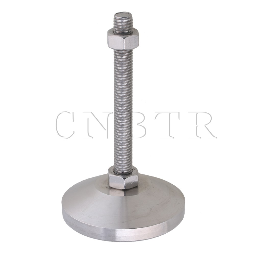 CNBTR 80mm Stainless Steel Adjustable Joint Screw Table Feet M12x100mm Thread ...