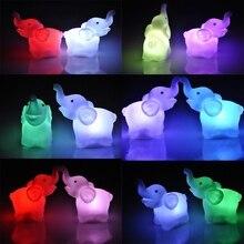 Renk değiştiren fil LED lamba düğün doğum günü partisi dekorasyon LED gece lambası tatil aydınlatma hediye ev yatak odası lambaları