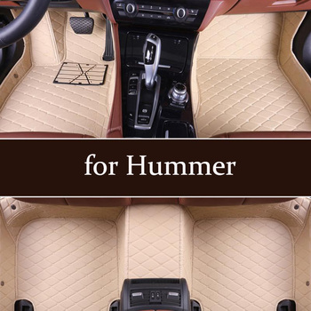 car Leather custom floor Foot mat for Hummer H1 2003-2006 H2 2003-2007 2008-2009 H3 2005-2010 Right driving easy to clean mats