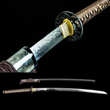 Hand Forged Clay Tempered T10 steel Top Choji Hamon Japanese Samurai Sword Katana Sharp Ready