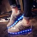 2016 Новый Моделирование Единственным Led Обувь Для Взрослых Мода Высокого качество Мужская Светодиодные Светящиеся Обувь Повседневная Обувь Для Любителей c120 15