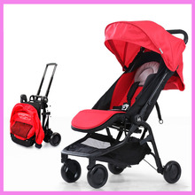 Portable Folding Light Baby Stroller Travel System Four Wheel High View Umbrella Can Lie Sit Jogging Baby Strollers Pram 0~5 Y