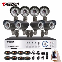 Tmezon HD Full 1080P 8CH DVR NVR HVR Security Surveillance CCTV System 8pcs 1080P 2 0MP