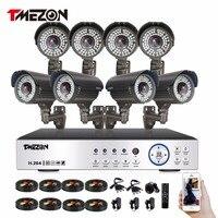 Tmezon HD Full 1080P 8CH DVR NVR HVR Security Surveillance CCTV System 8pcs 1080P 2 0MP