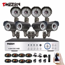Фотография Tmezon HD Full 1080P 8CH DVR NVR HVR Security Surveillance CCTV System 8pcs 1080P 2.0MP Camera Zoom 2.8-12mm Lens With 72 Leds