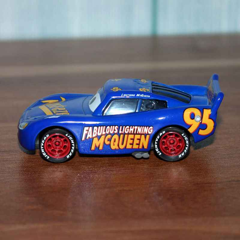 Disney Pixar Cars 3 Blue Lightning Mcqueen Vehicle 1 55 Diecast