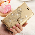 For Galaxy J5 2016 Wallet Case Butterfly Flower Diamond Leather Cover For Samsung Galaxy J5 J510 J510F S7 Edge S6 A5 2016 Fundas