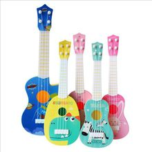 все цены на Funny children's guitar ukulele musical instrument children's toy school play game education Christmas birthday gift онлайн