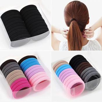 10pcs Black Hair Rings Elastic Ponytail Holder Rubber Bands Hair Rope Tie Gum for Girl Women Hair Accessories headwear hair band