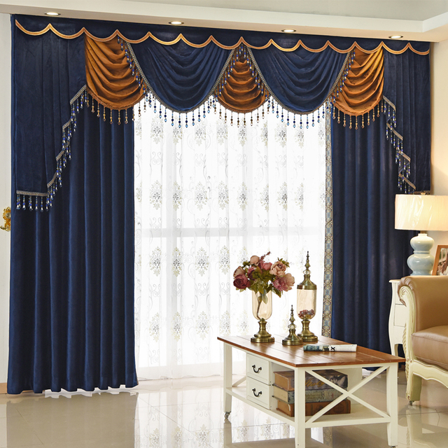 web garden empire valance blue curtains gate home rlf