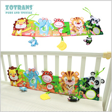 Baby Crib Bumpers in the Bed Around and Baby Bedding Set Infant Rattle with Animal Model Baby Plush Animal Baby Bed Bumper