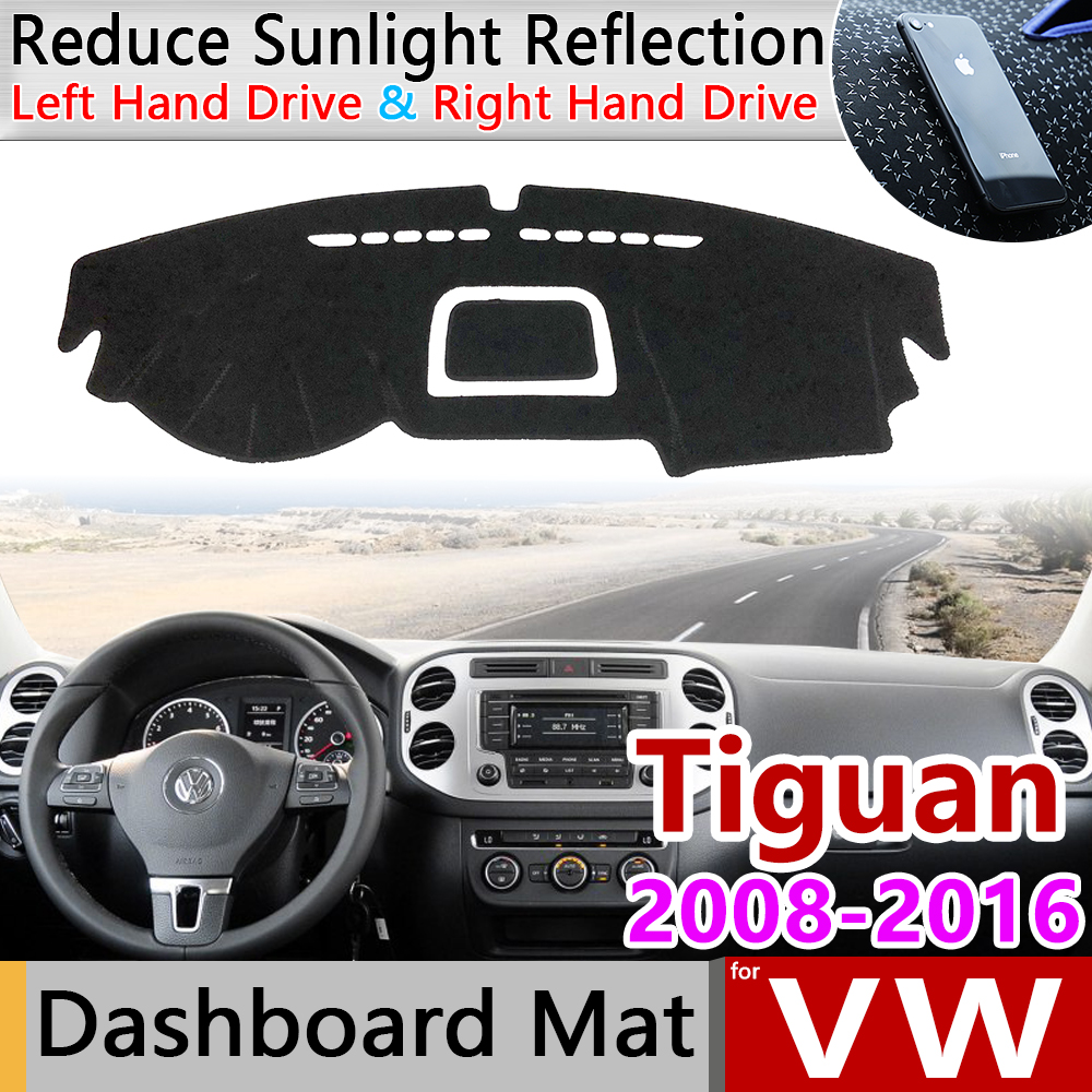 for Volkswagen VW Tiguan MK1 2008 2016 Anti-Slip Mat Dashboard Cover Pad Sunshade Dashmat Accessories 2009 2010 2013 2014 2015