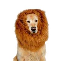 Pet Cool Lion Head Mane Wig Cat Puppy Cap Hats Large Dogs Samoyed Festival Fancy Dress