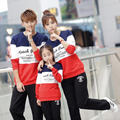 Family Matching Outfits Letter 2016 Spring Autumn Family Look Clothing Sets Long Sleeve Father Mother Daughter Girl Boy Clothes
