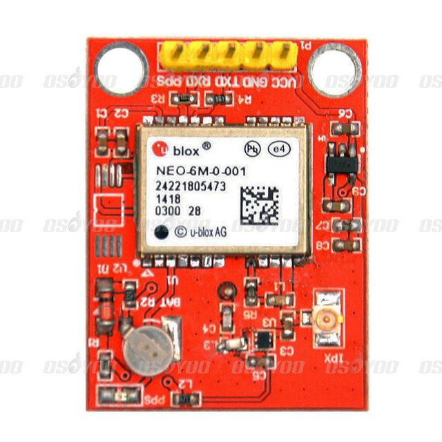 25mm Módulo Receptor GPS para U-Blox NEO-6M com Cerâmica Passiva Antena para Arduino Frete Grátis