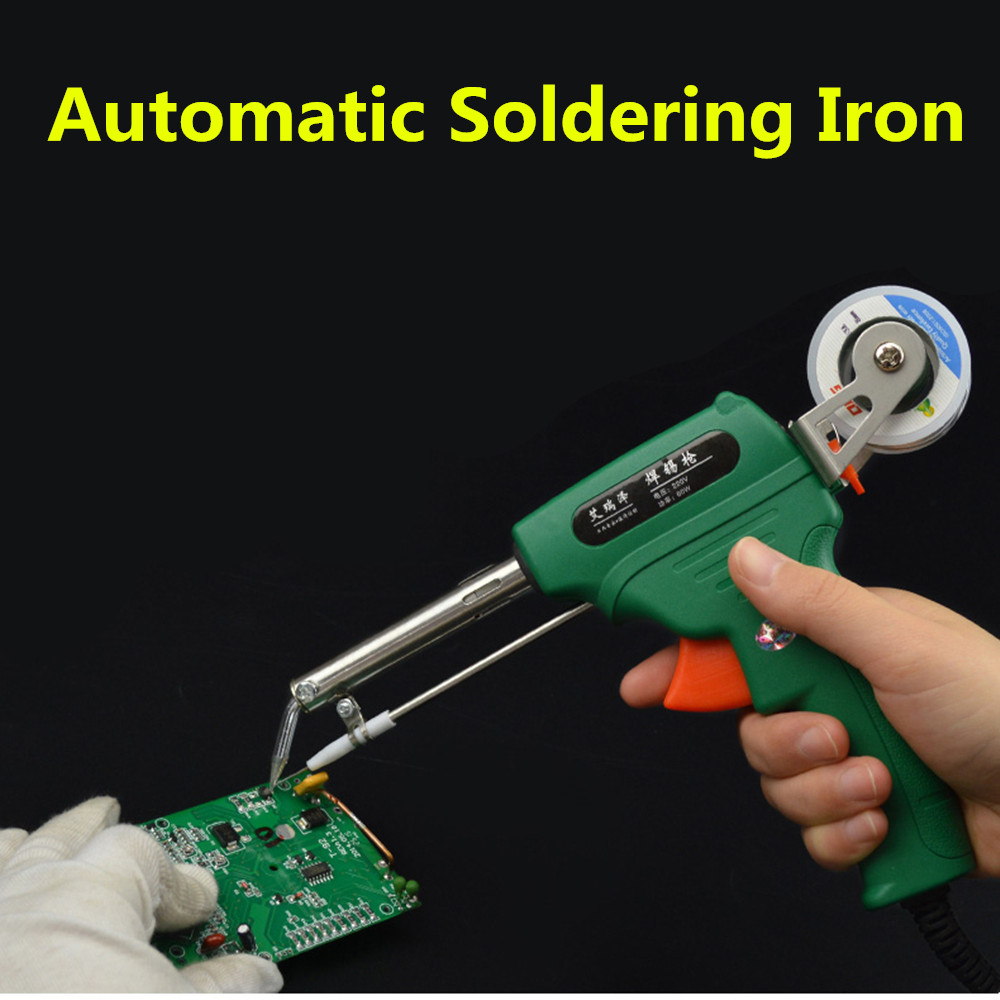 High quality Manual soldering gun Electric gun type iron Automatic soldering machine automatically send tin 60W remote control electric powered discount new hugin 2 2m h tail glider modle airplane for sale radio rc model air planes kits cub