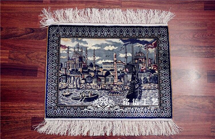 1.5 'x2' Istanbul château turc tapis tapis en soie fait à la main mur tapisserie à la main tissage chambre tapis