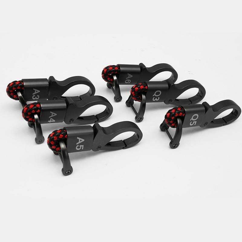Car Emblem Badge Gray Geniue Leather Key Chain Ring For Audi A3 A4 A5 A6 Q5 Q3 Keychain Keyring Keyfob Car Styling