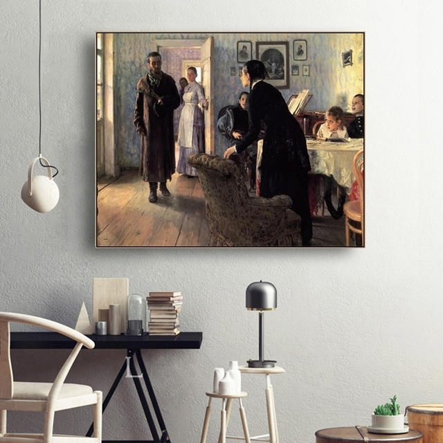 They Did Not Except Him Canvas Oil Painting Poster and Prints Living Room House Wall Decor Art Painting Home Decoration Picture