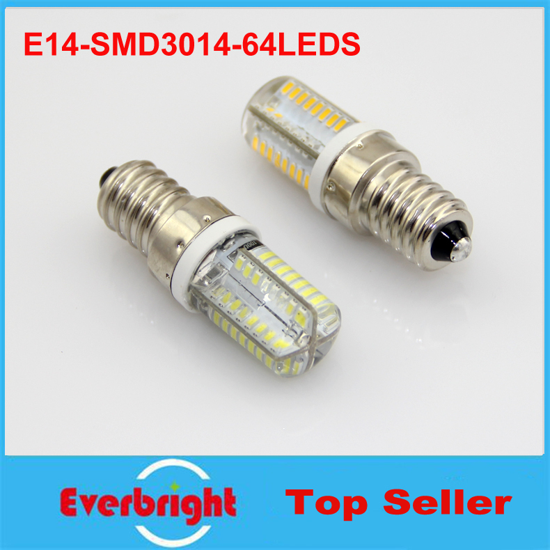 5 pcs/lot Mini E14 6W LED bulb light high power 64pcs 3014 SMD silicone led corn light 360 beam angle warm white/white 110V 220V