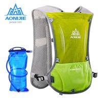 AONIJIE Running Bag Unisex Sport Bag Reflective Vest Sport Water Bottle Backpack for Running Cycling with 1.5L Hydration Bladder