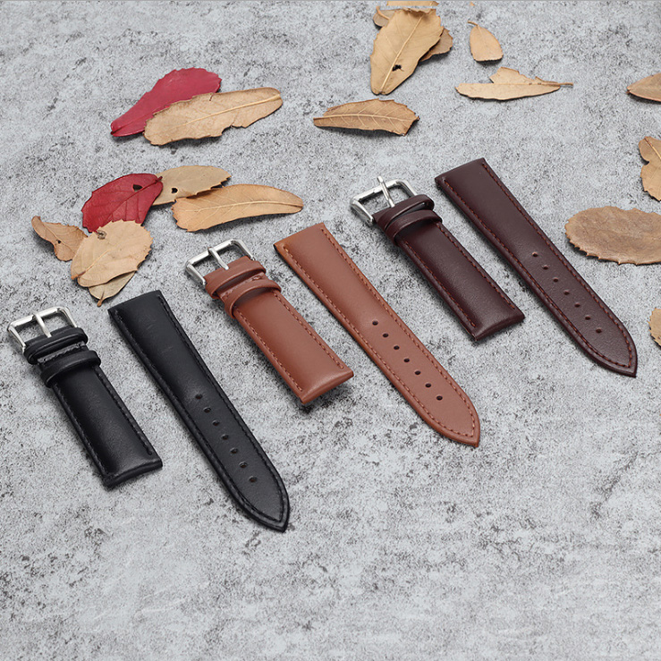 12mm/14mm/16mm/18mm/20mm/22mm/24mm Genuine Leather Watchband High Quality Unisex Sport Wrist Watch Band Strap Belt For цена