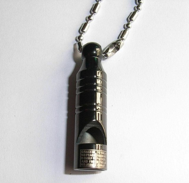 Wholesale Popular hot sell Guaranteed 100% Stainless Steel Laser Whistle Pendant free chain + free shipping