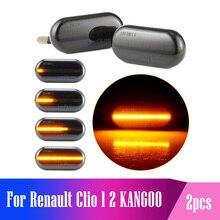 Cho Renault Clio 1 2 KANGOO MEGANE ESPACE TWINGO CHỦ LED Năng Động Bên Chỉ Báo Ghi Tín Hiệu Ánh Sáng Đèn Tuần Tự Nhấp Nháy