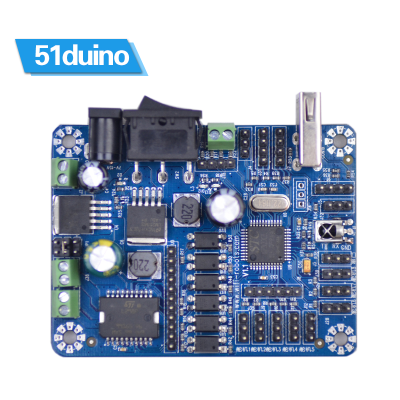 цена на 51duino smart car robot driver board /51 development board / motor / actuator / sensor / attached to the source