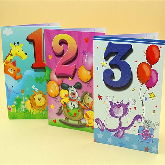 20 pieceslotCute Kawaii 1 10 Year old Birthday Card Lovely – Birthday Cards Decoration