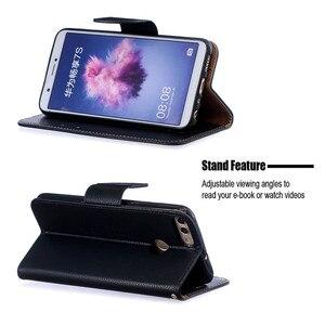 Image 4 - Умный чехол для Huawei P, чехлы для Huawei P Smart P, умный зеркальный чехол, однотонный кошелек, кожаный флип чехол для телефона, чехол
