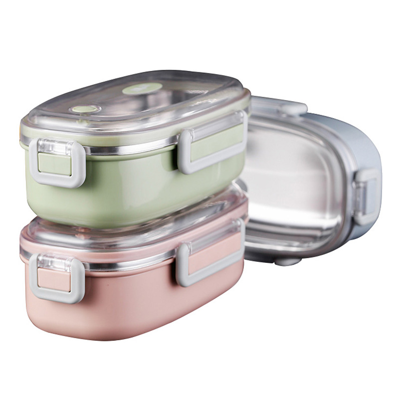 UPORS Stainless Steel Lunch Box Portable Food Container Leak Proof Japanese Thermos Bento Box Healthy School Lunch Box for Kids