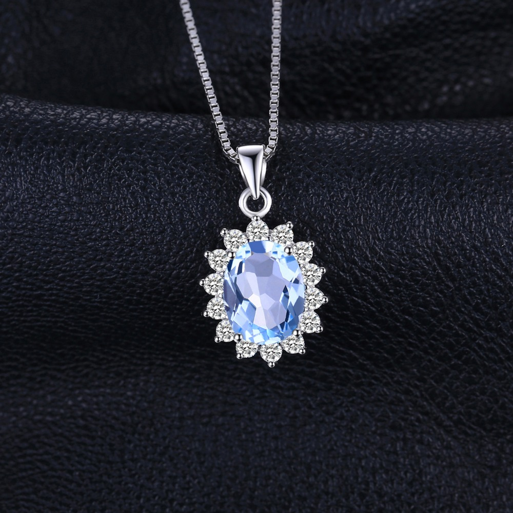JewelryPalace Princess Diana William Kate 2.3ct Topacio azul natural - Joyas - foto 2