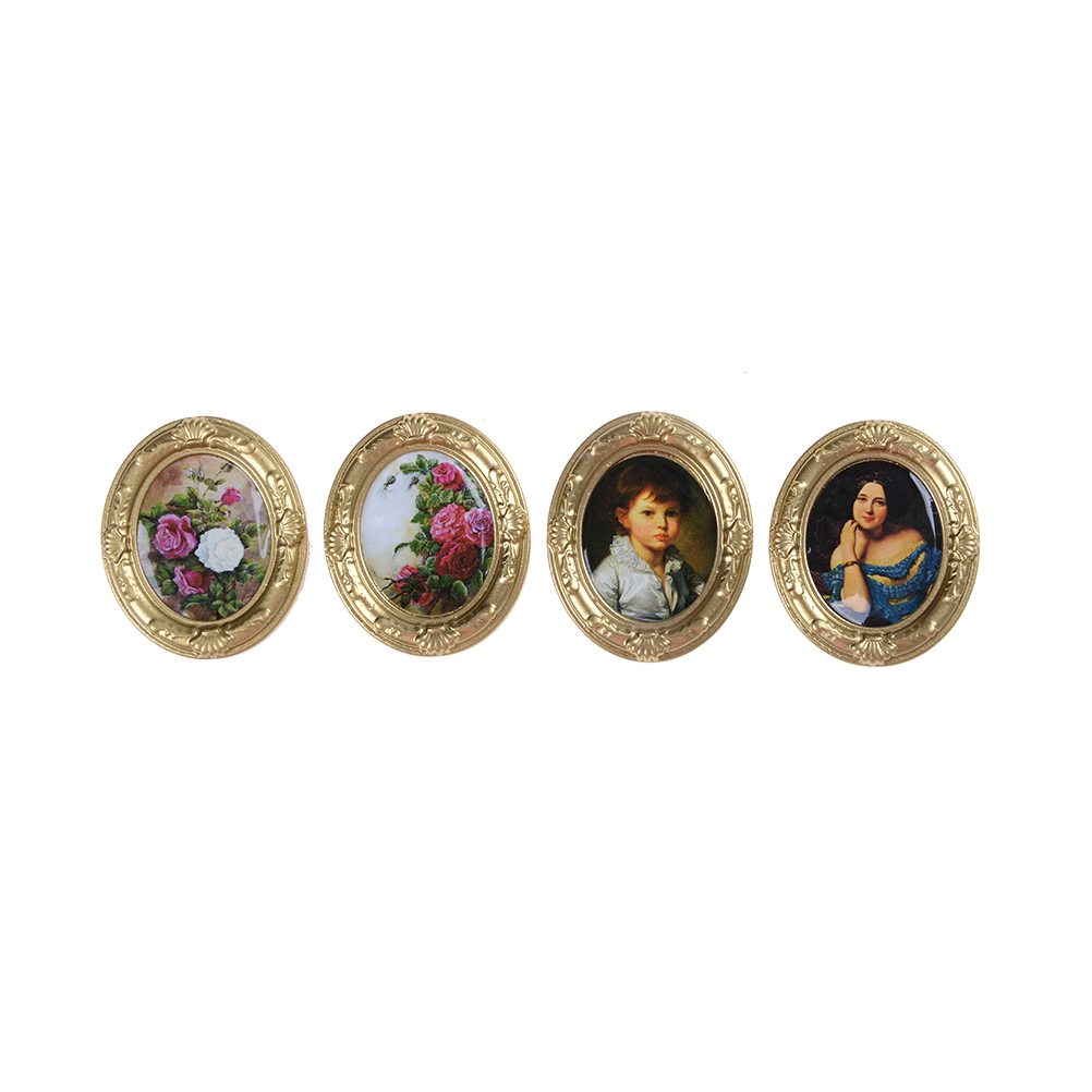 1:12 Dollhouse Miniature Framed Wall Painting Home Decor Room Items Baby Kids Toy Novelty Funny Gifts