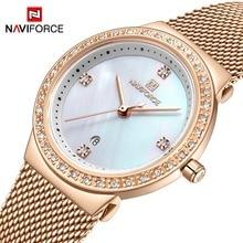 NAVIFORCE New Rose Gold Women Watch Business Quartz Watch La