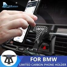 מהירות טיסה עבור BMW F30 F32 F34 F10 F15 F16 F48 F39 G01 G30 G32 G02 אביזרי פחמן מוגבלת טלפון בעל סוגר מיוחד הר