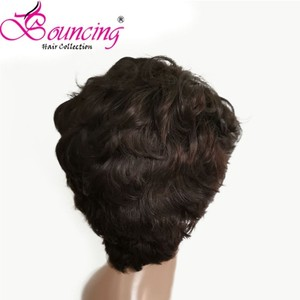 Image 3 - Bouncing Remy Hair 13*4 Lace Front Human Hair Wigs Pre plucked Natural Color 150% Pixie Short Cut Wig For Women Brazilian Hair